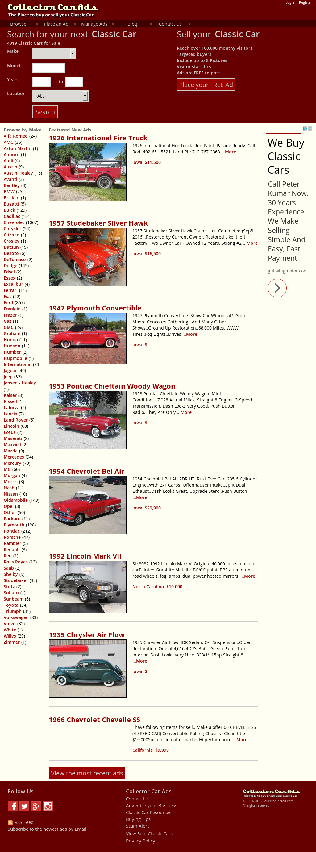 Collector Car Ads Competitors, Revenue and Employees - Owler