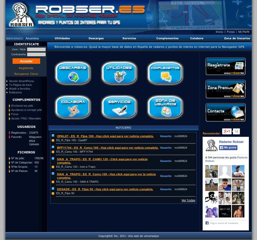 base datos robser