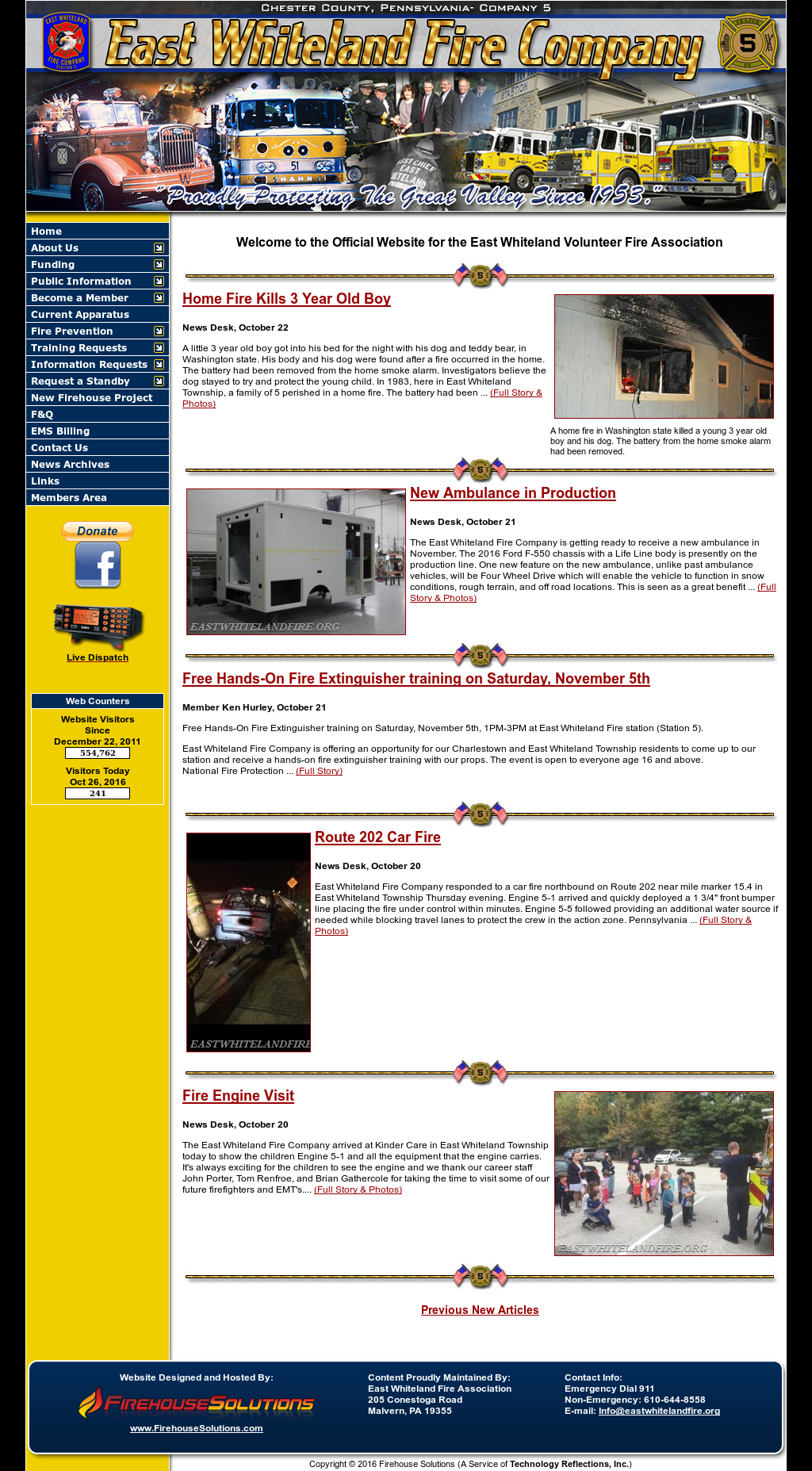 East Whiteland Fire Company Competitors, Revenue and