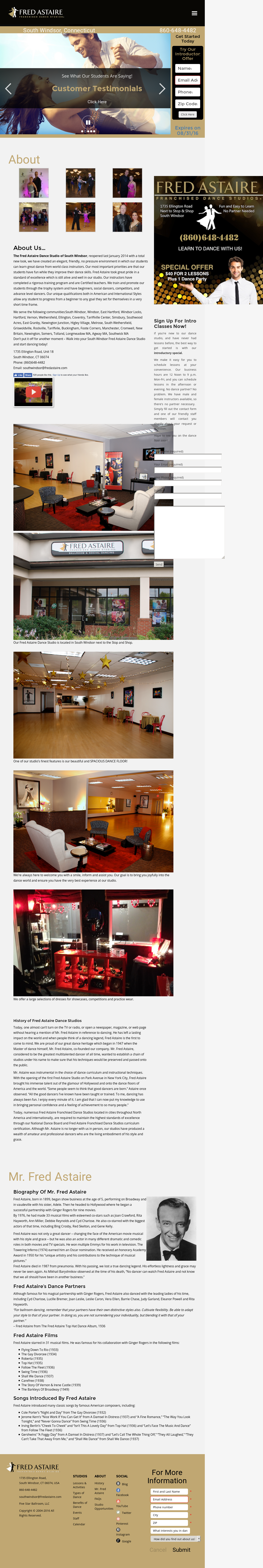 Fred Astaire Dance Studio Of South Windsor Competitors Revenue And Employees Owler Company Profile