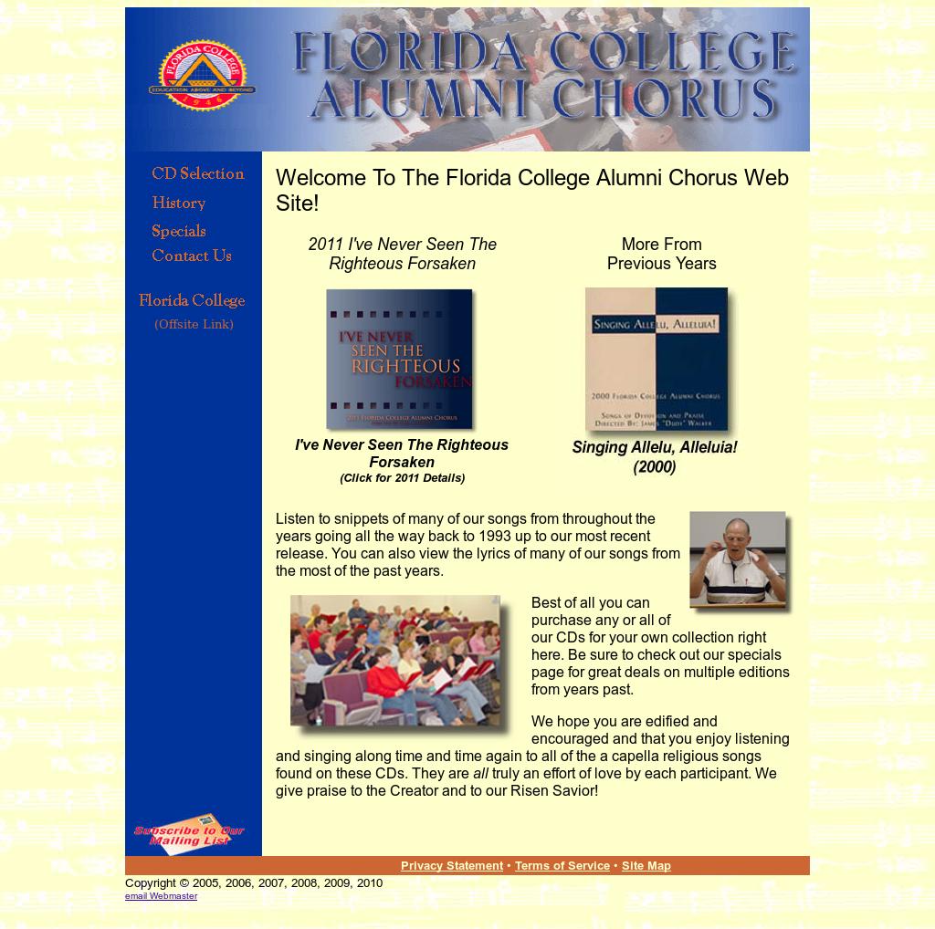 Florida College Alumni Chorus Competitors, Revenue and Employees