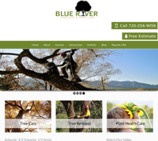 Blue River Tree Care Website History