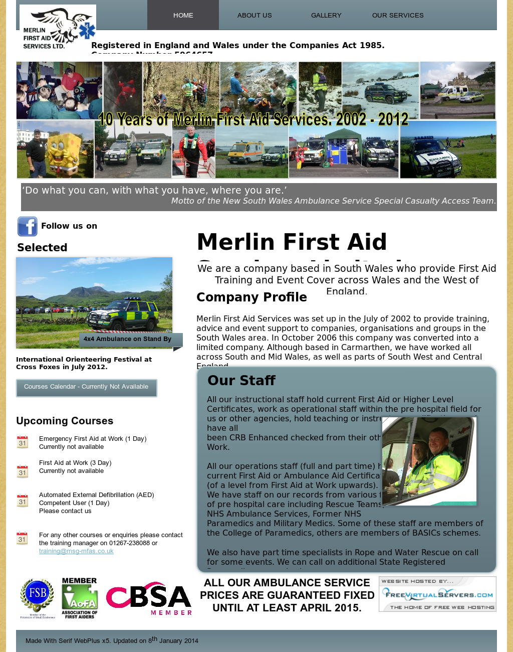Merlin First Aid Services Competitors, Revenue and Employees