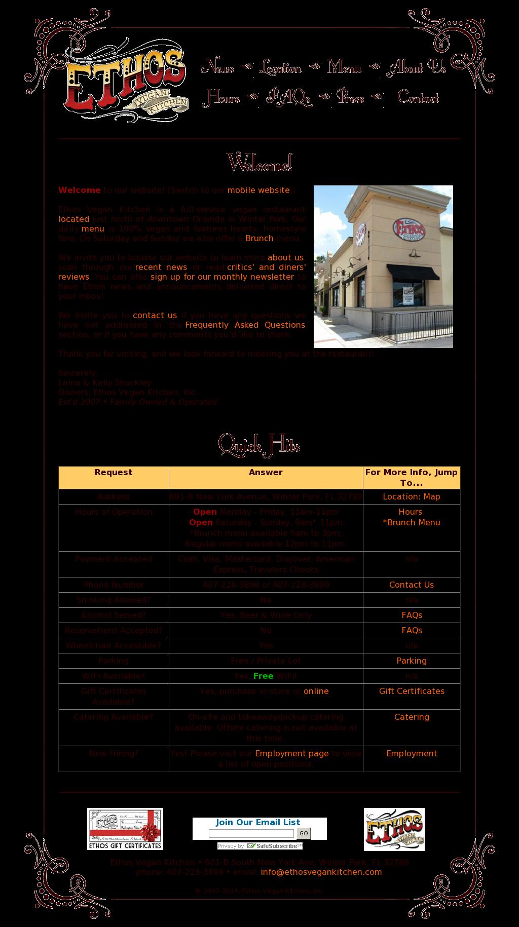 Ethos Vegan Kitchen Company Profile - Revenue, Number of Employees ...