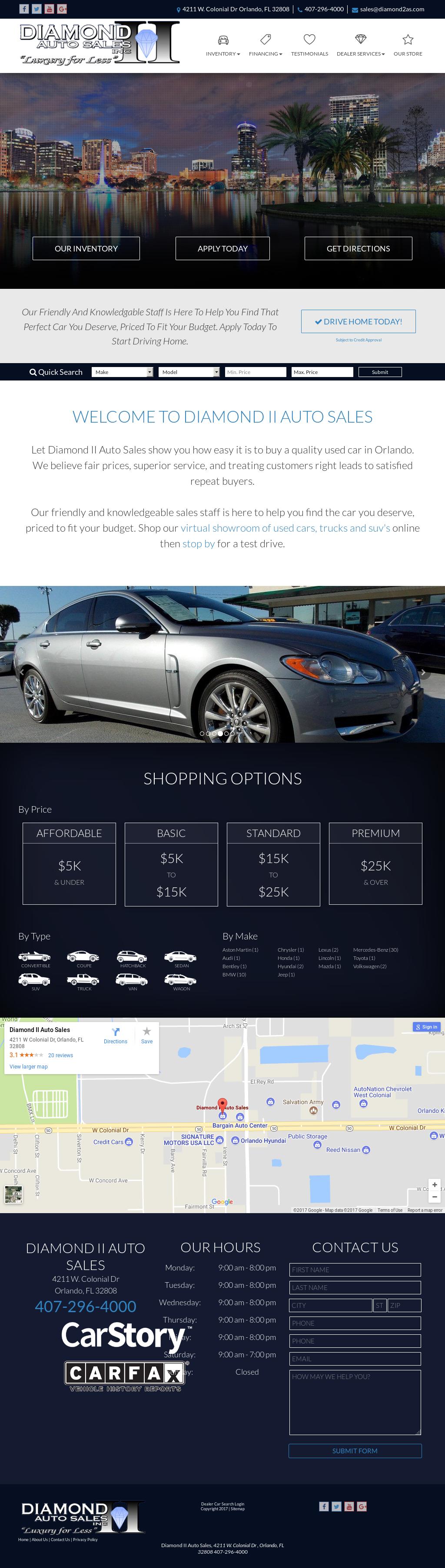 Diamond II Auto Sales petitors Revenue and Employees Owler
