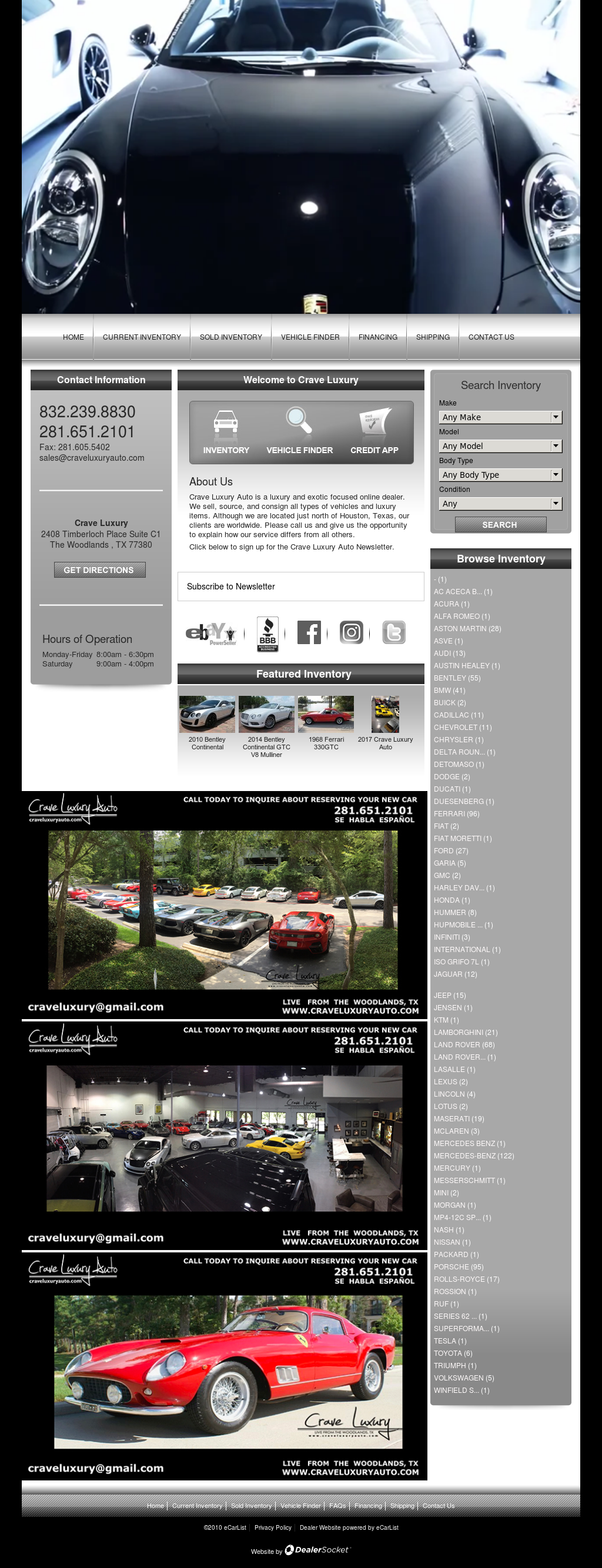 Crave Luxury Auto petitors Revenue and Employees Owler pany
