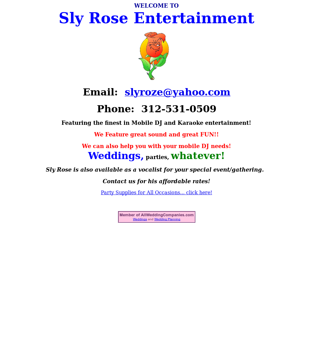 Sly Rose Entertainment Competitors, Revenue and Employees