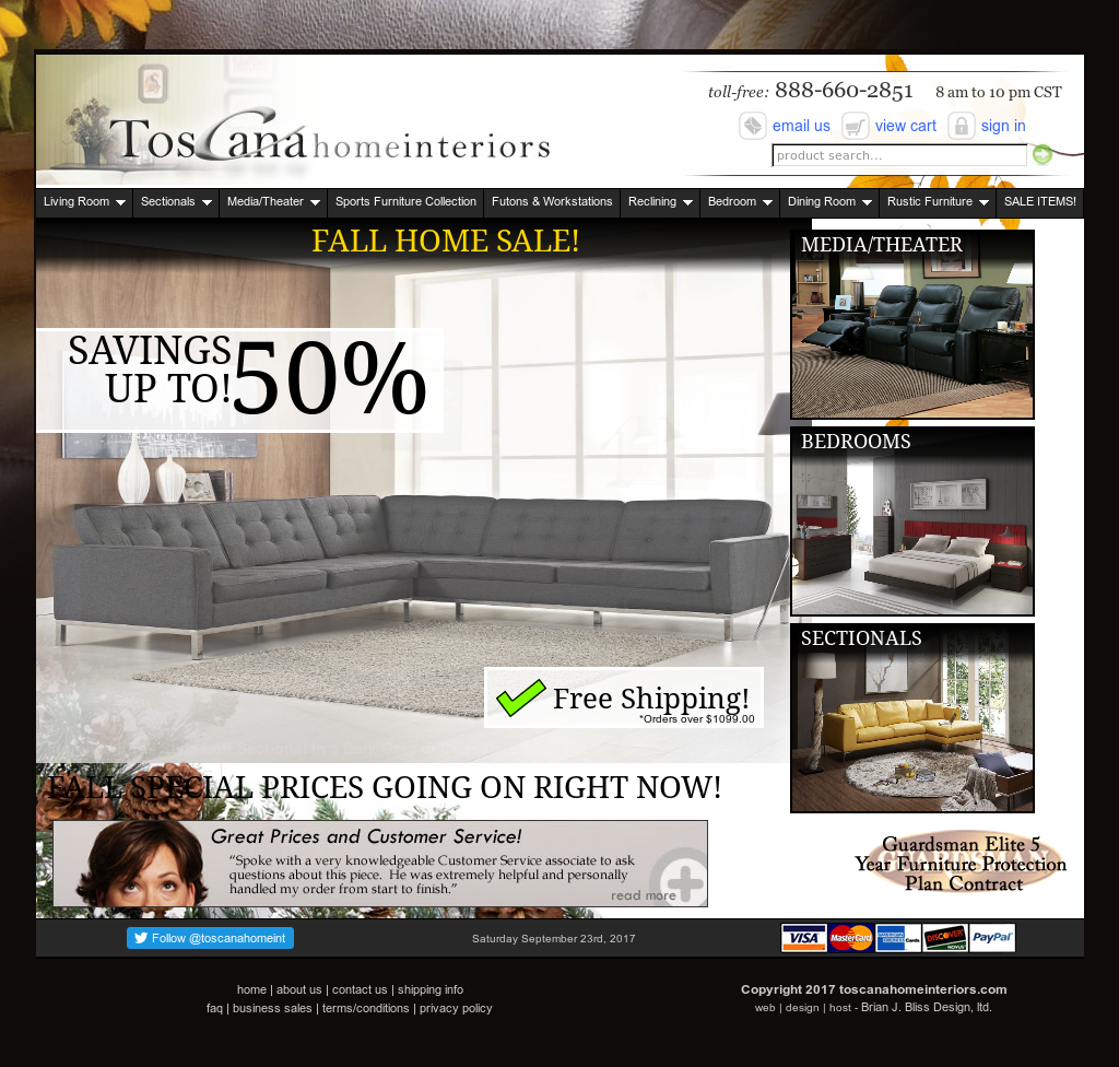 Toscana Home Interiors Website History