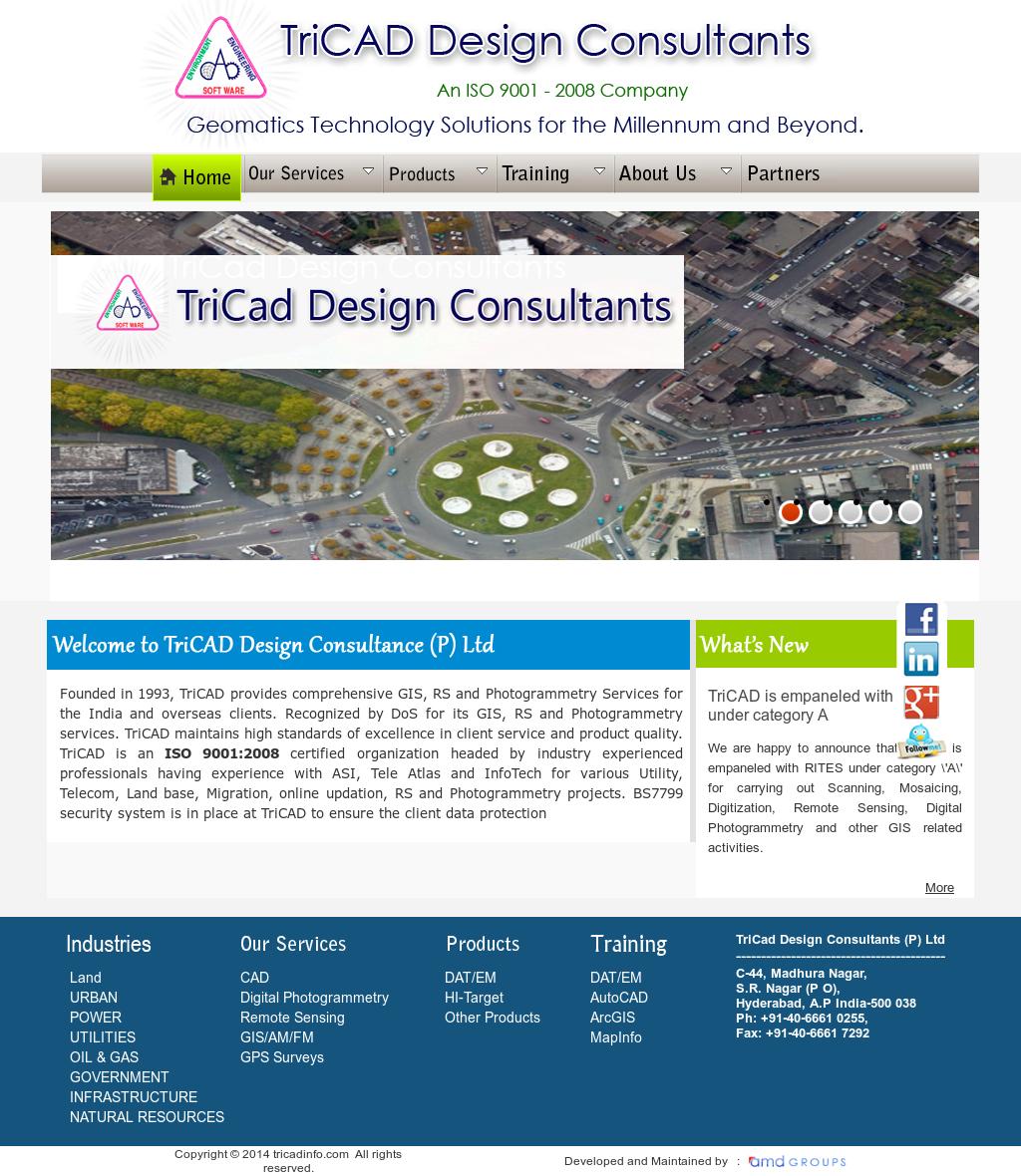 Tricad design consultants competitors revenue and for Design consultancy company profile