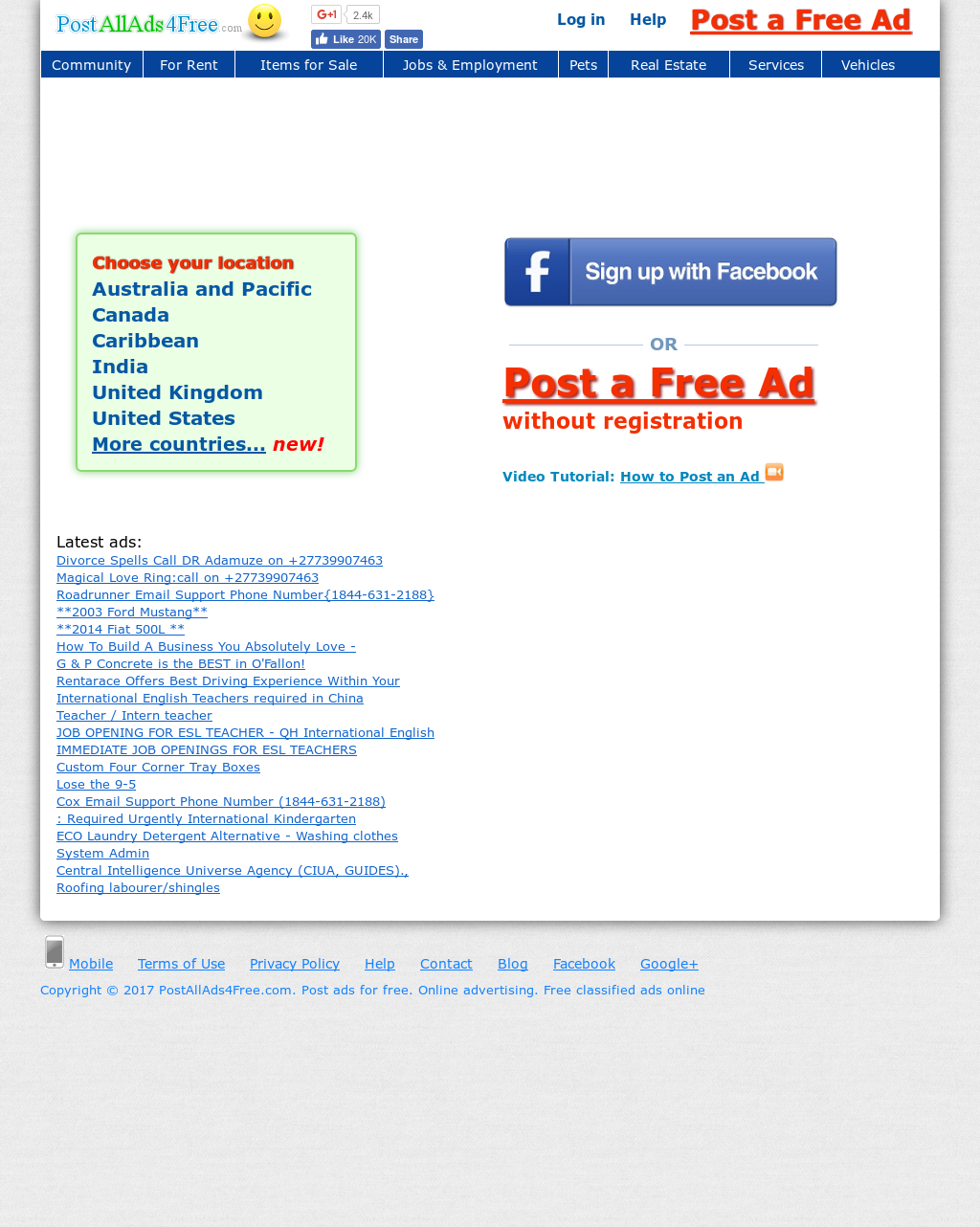 Postallads4free com  Post Ads For Free  Online Advertising  Free