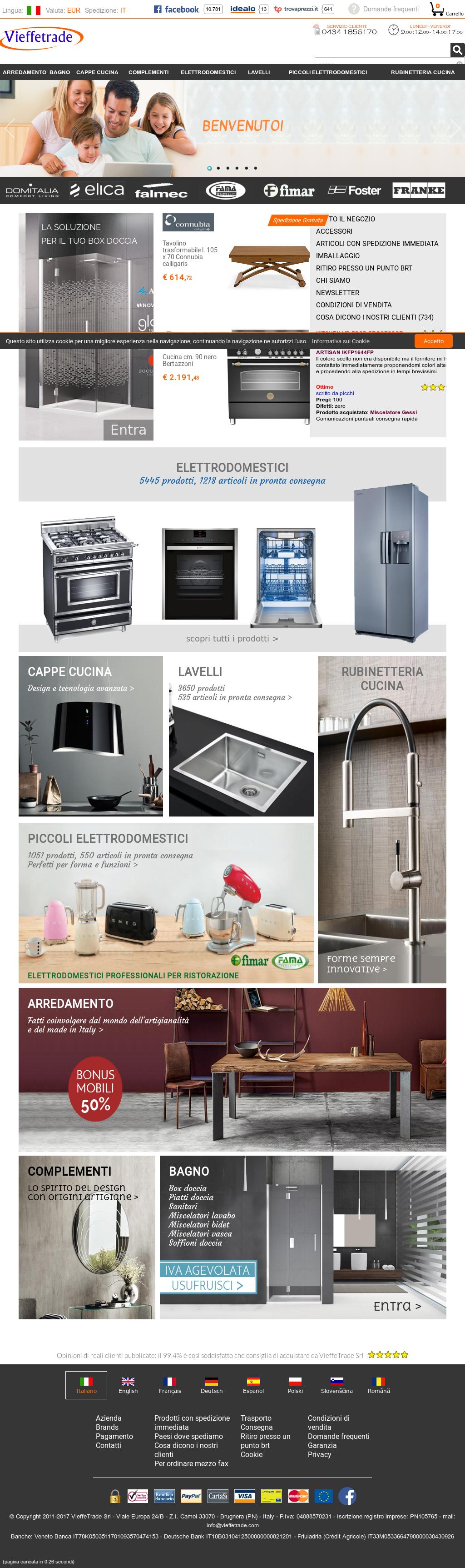 Vieffetrade -your Shopping: Vendita Online Elettrodomestici ...
