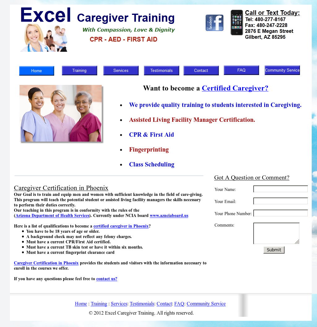 caregivercertificationinphoenix competitors revenue and employees
