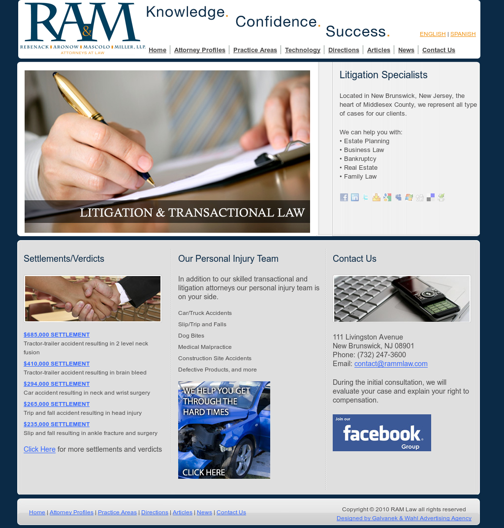 Ram Law - New Jersey Personal Injury Lawyers Competitors, Revenue