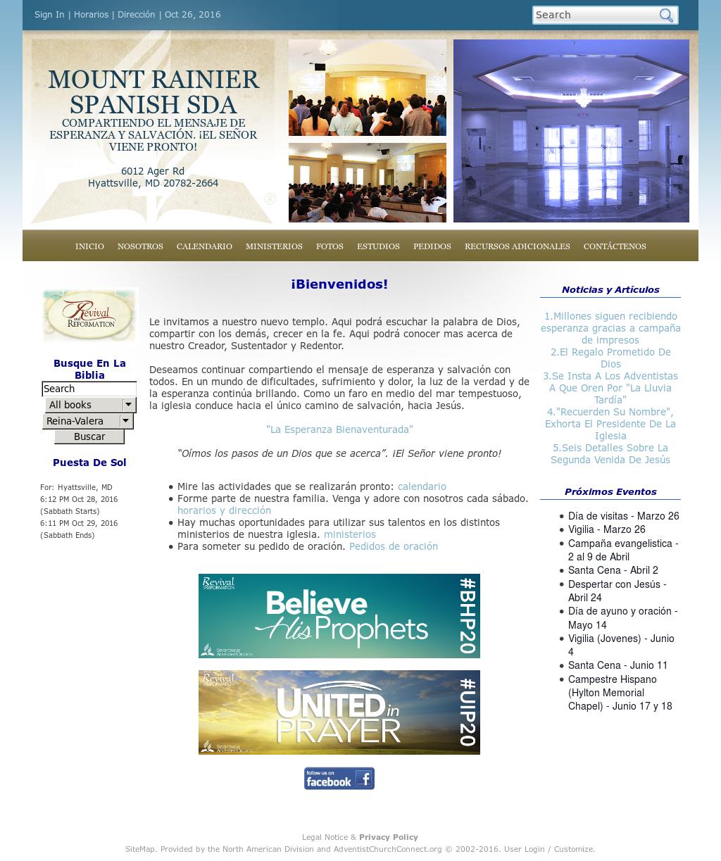 Iglesia Adventista De Mount Rainier Competitors, Revenue and