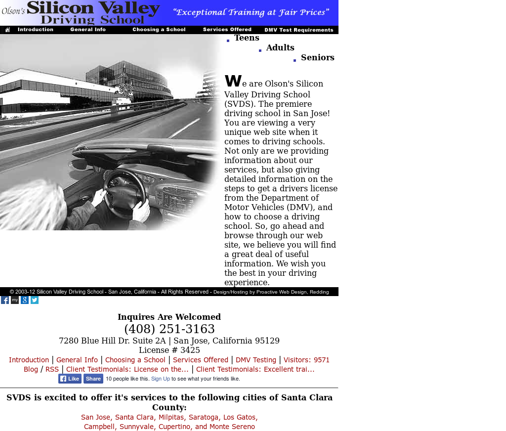Olsons Silicon Valley Driving School Competitors Revenue And