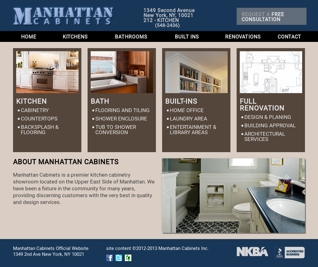 Manhattan Cabinets Website History