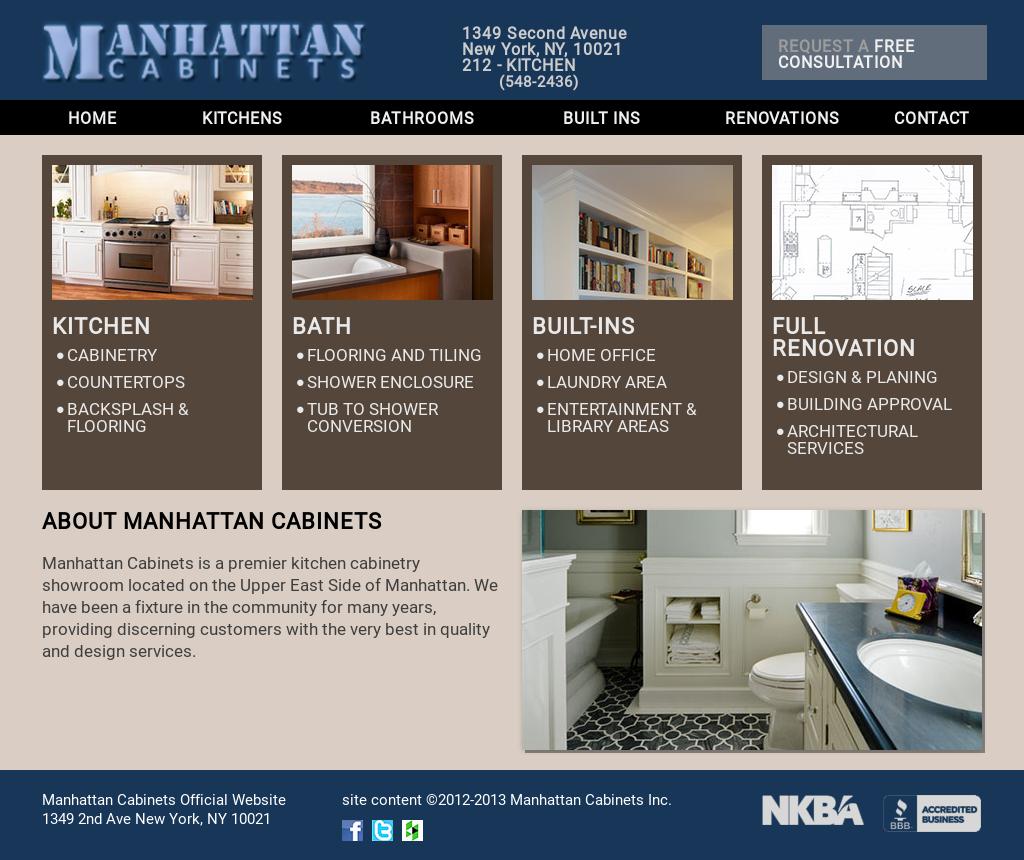 Manhattan Cabinets Website History