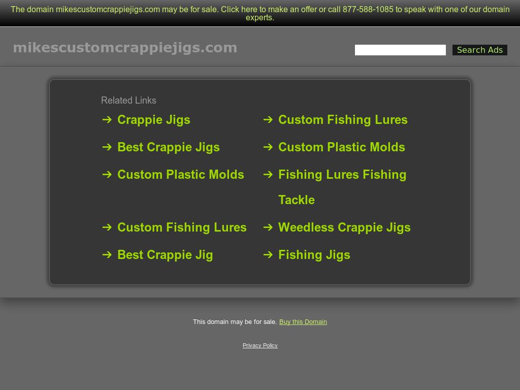 Mike's Custom Crappie & Walleye Jigs Competitors, Revenue
