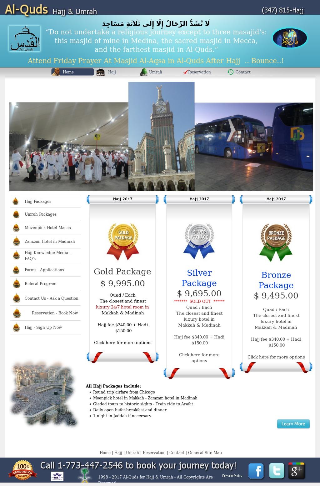 Al Quds Hajj Travel Packages Umrah Programs Usa Competitors