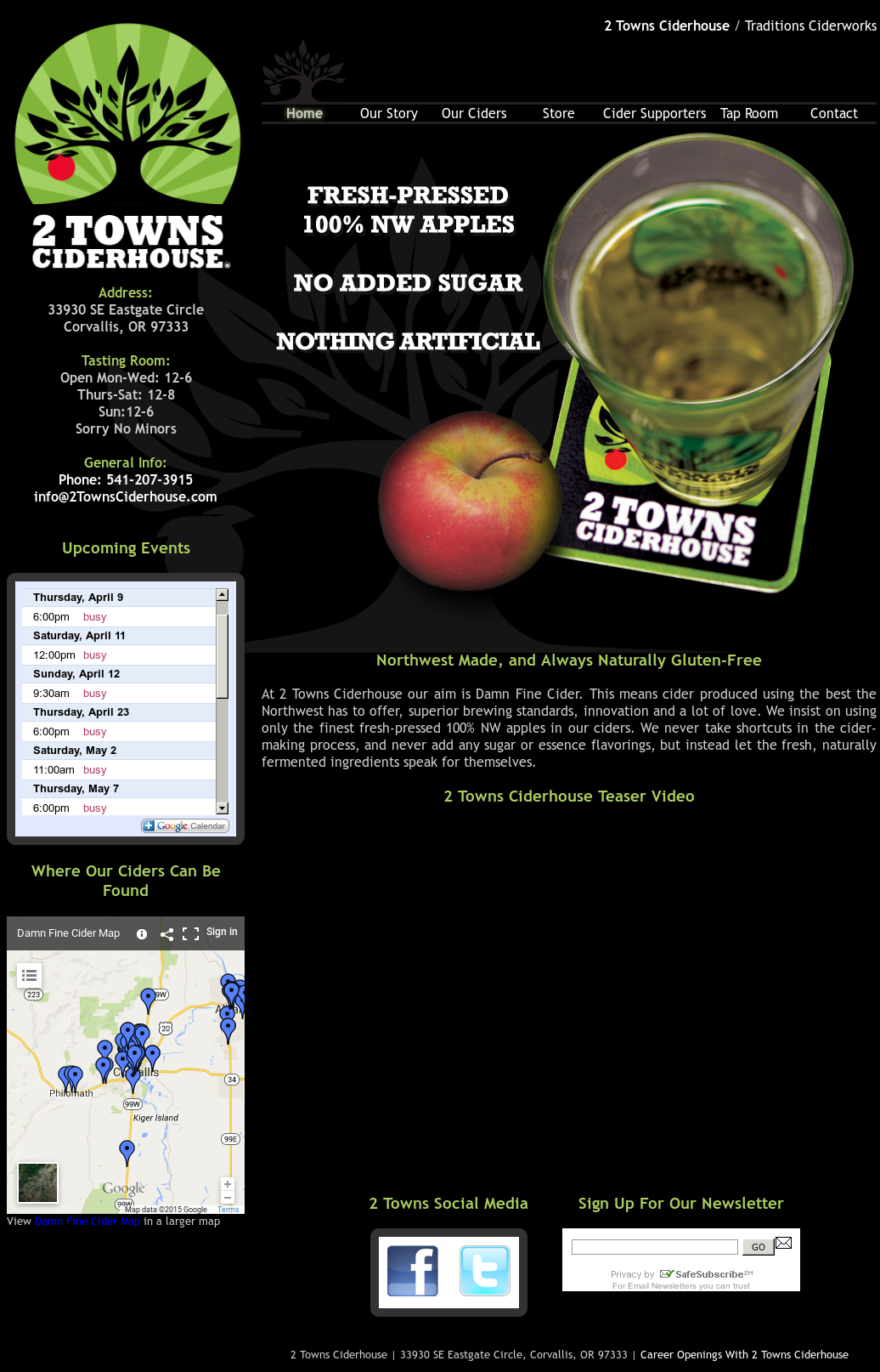 2 Towns Ciderhouse Competitors, Revenue and Employees