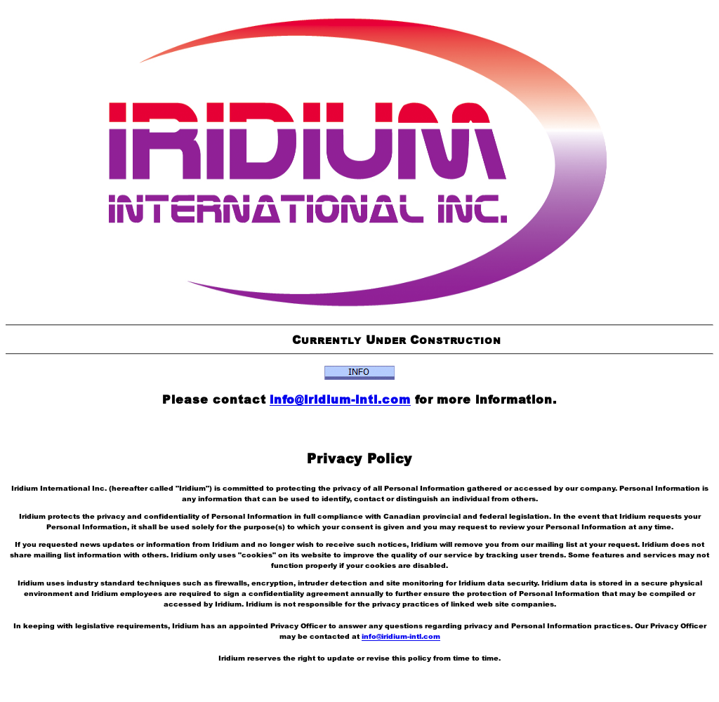 Iridium International Competitors, Revenue and Employees