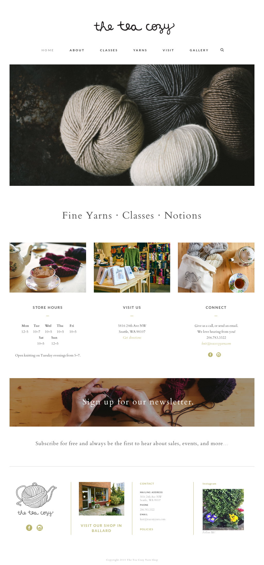the tea cozy yarn shop competitors, revenue and employees - owler