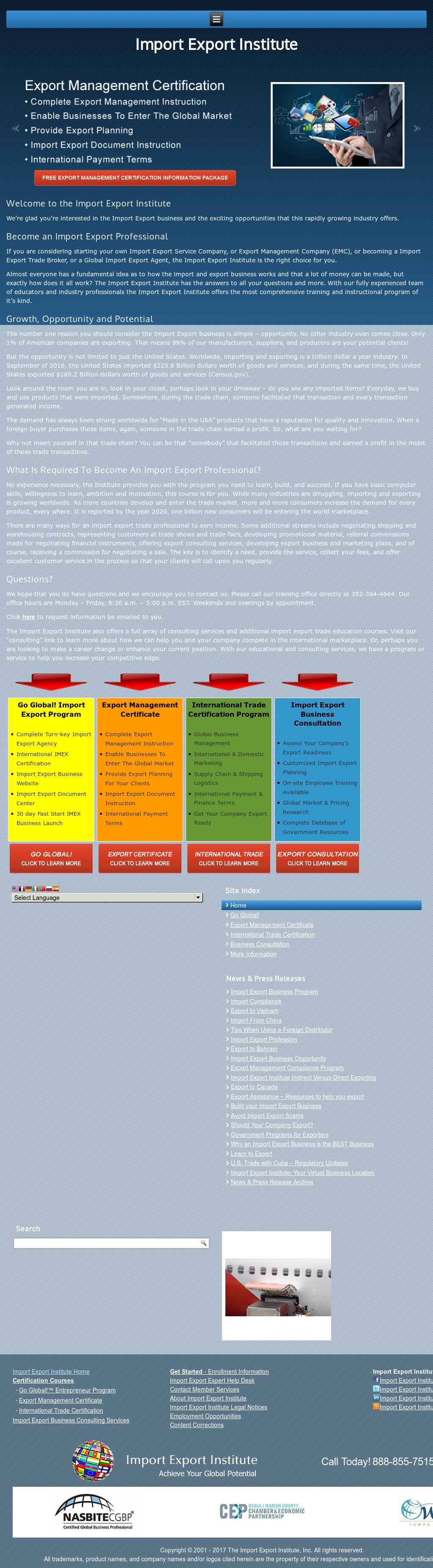 Import Export Institute Competitors, Revenue and Employees