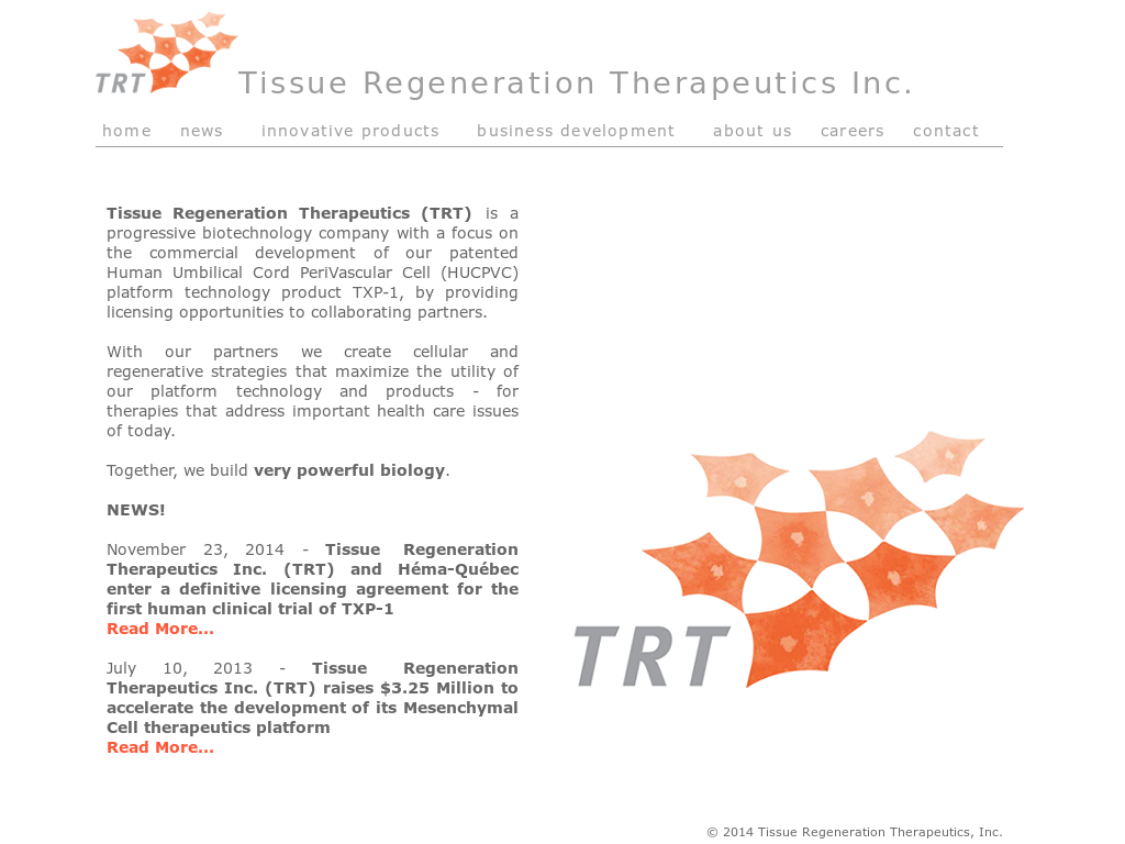 Tissue Regeneration Therapeutics Competitors, Revenue and Employees