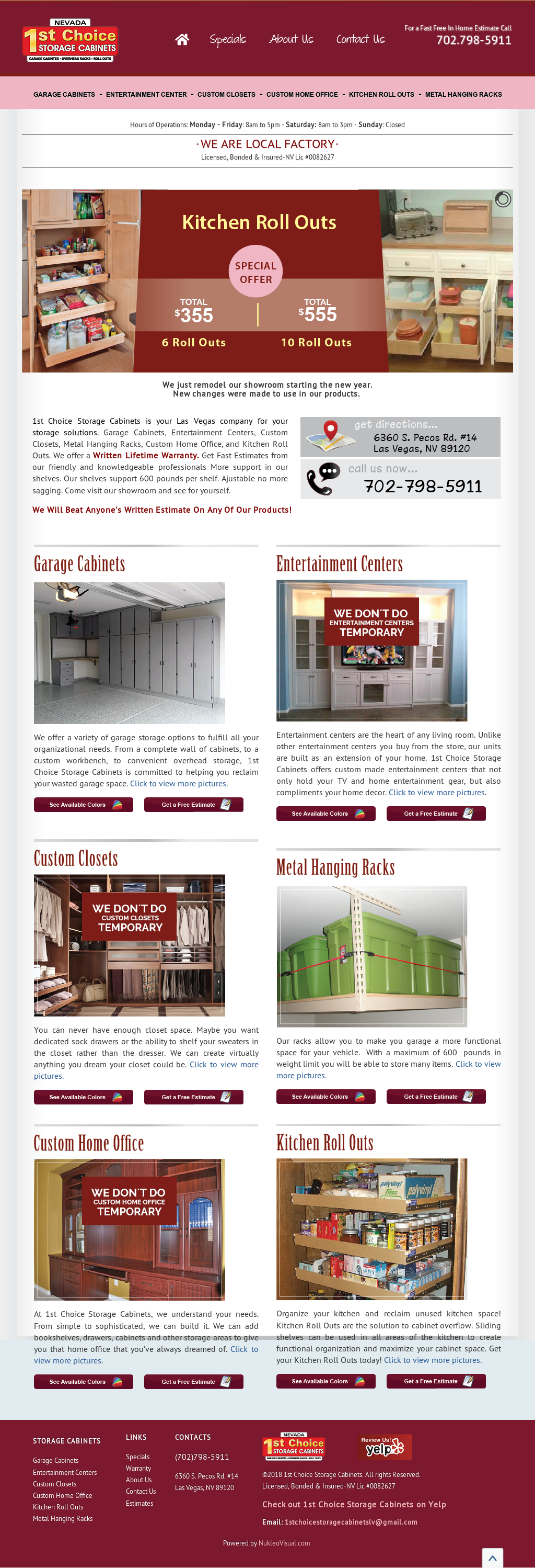1st Choice Storage Solutions Website History