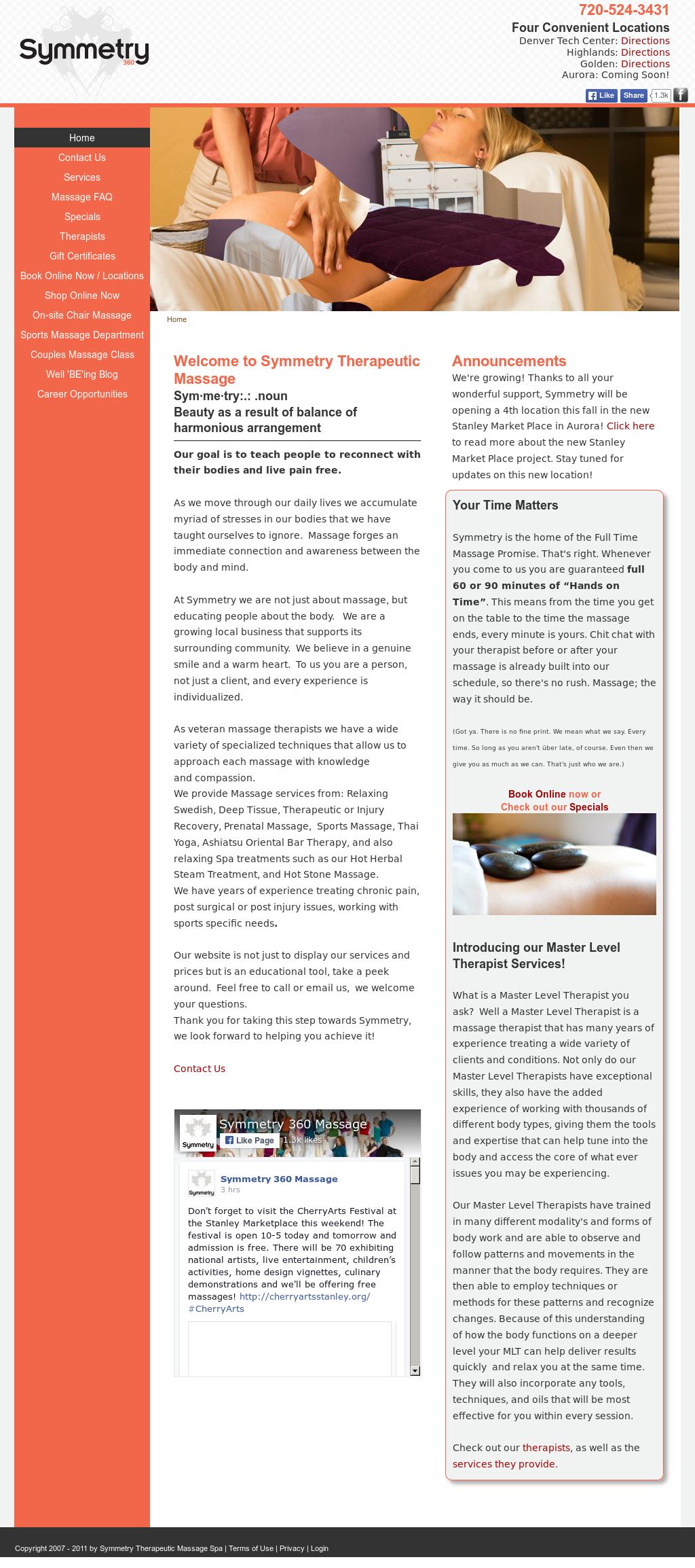 Symmetry Therapeutic Massage Competitors, Revenue and