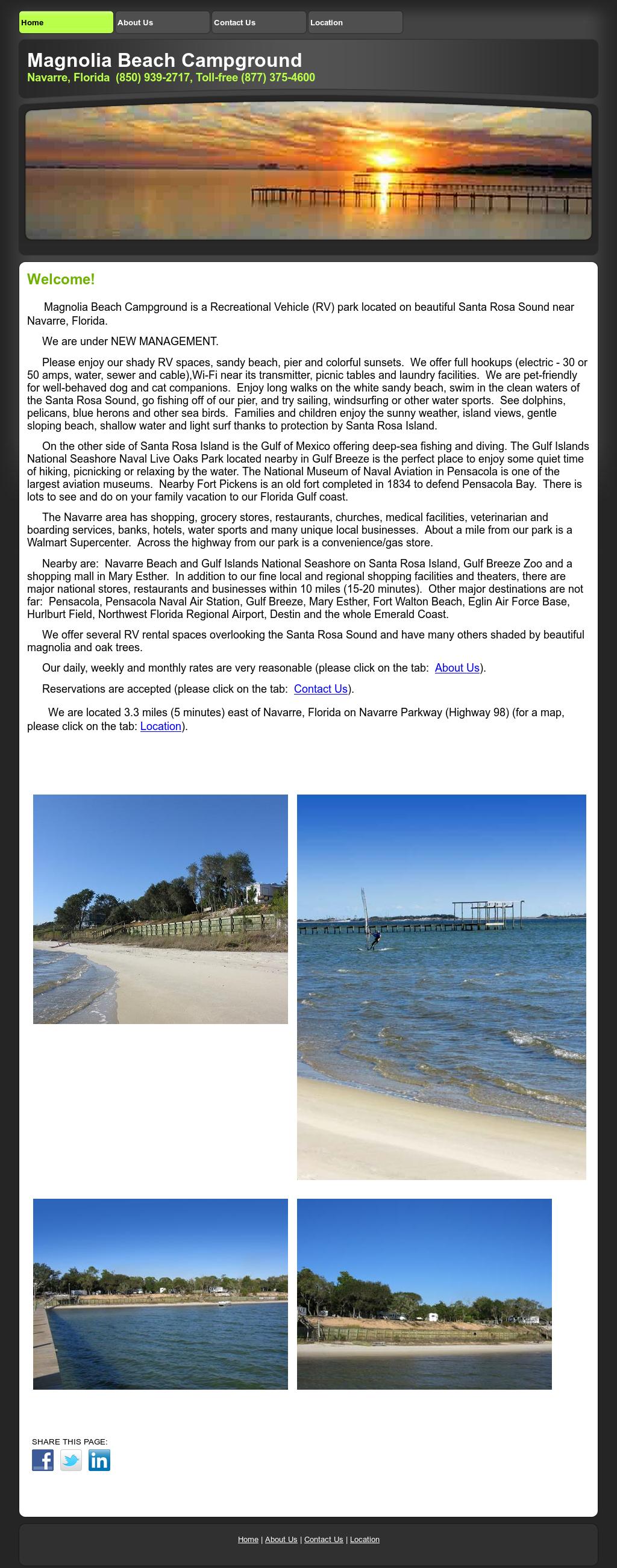 Magnolia Beach S Website Screenshot On Feb 2017