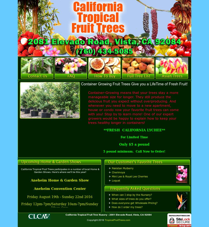 California Tropical Fruit Tree Competitors, Revenue and