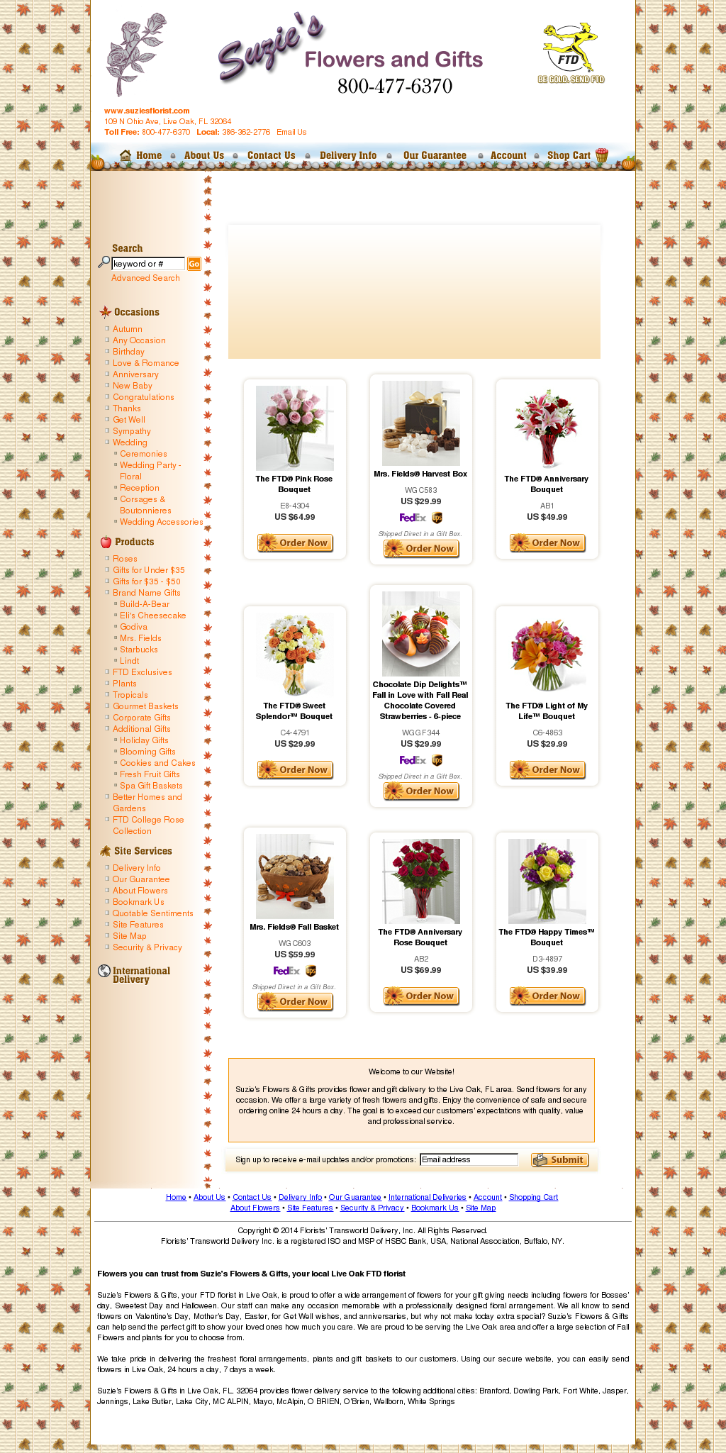 Suzie's Flowers and Gifts Competitors, Revenue and Employees