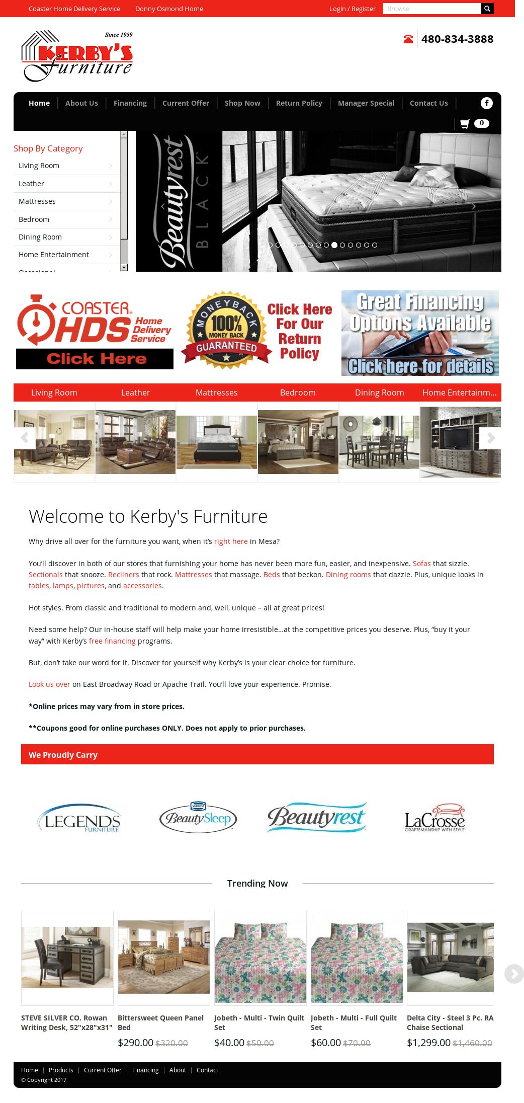 Kerbyu0027s Furniture Website History