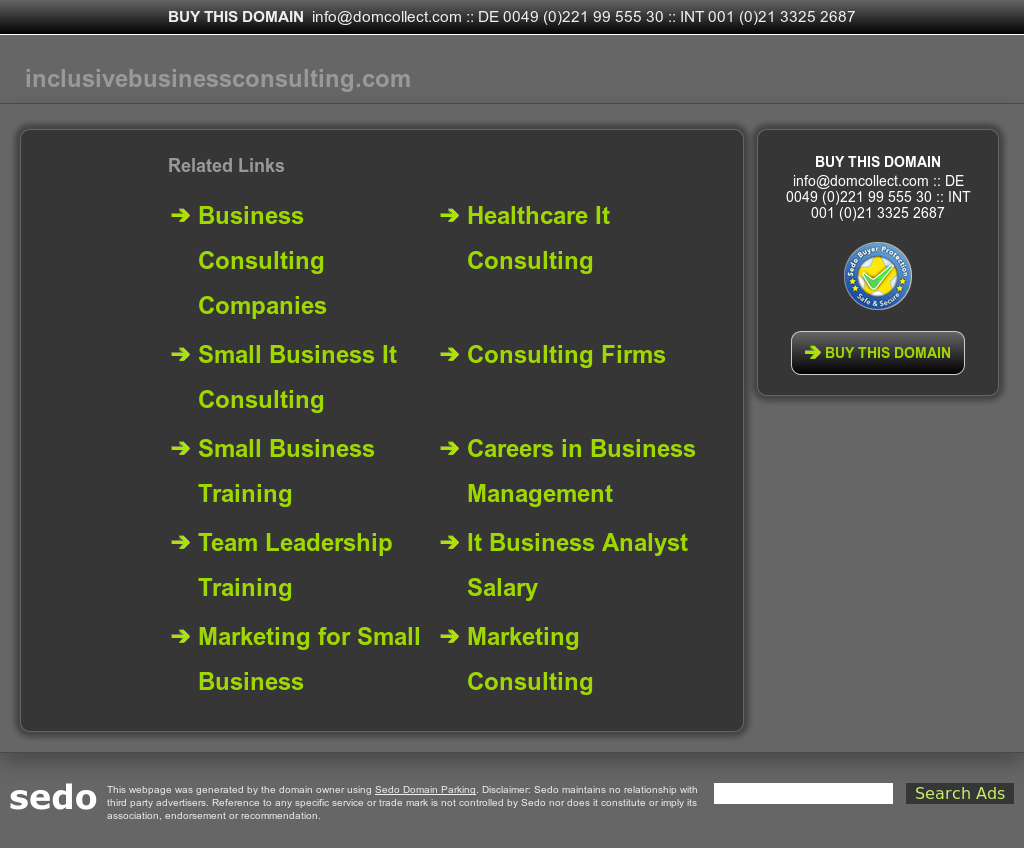 Inclusive Business Consulting Competitors, Revenue and Employees