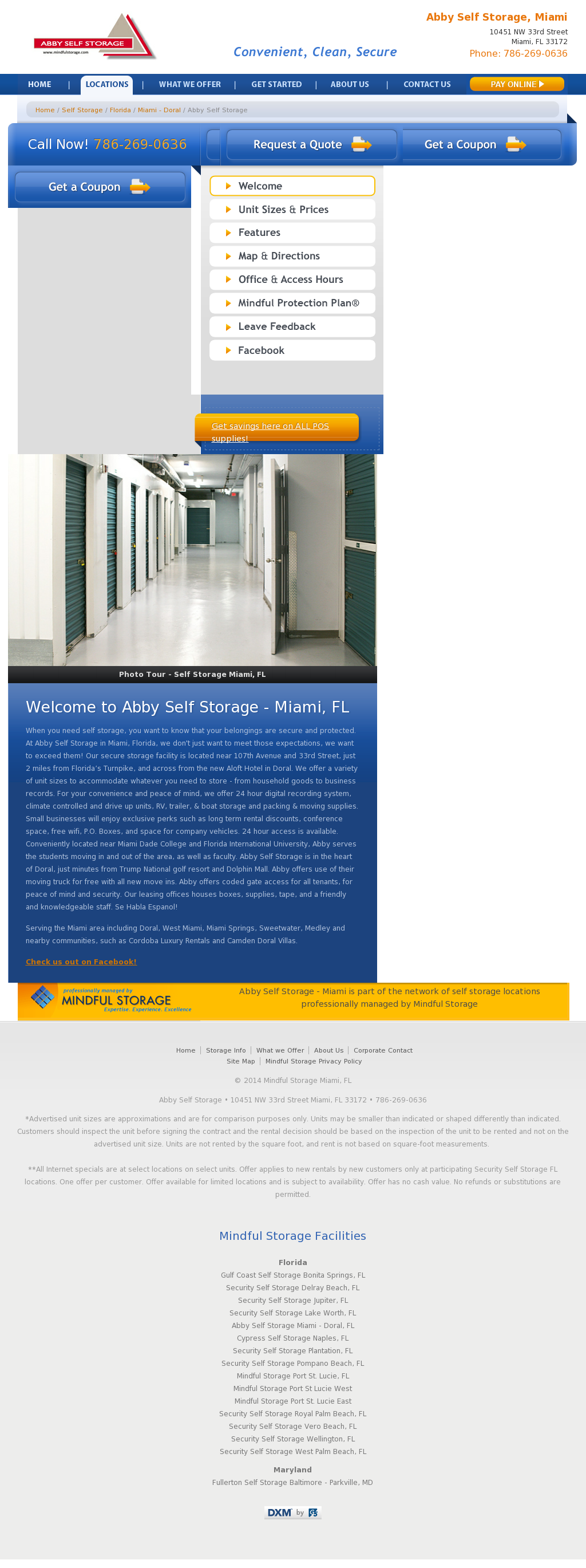 ... Storage 33172 #36   Abby Mini Storage Website History ...