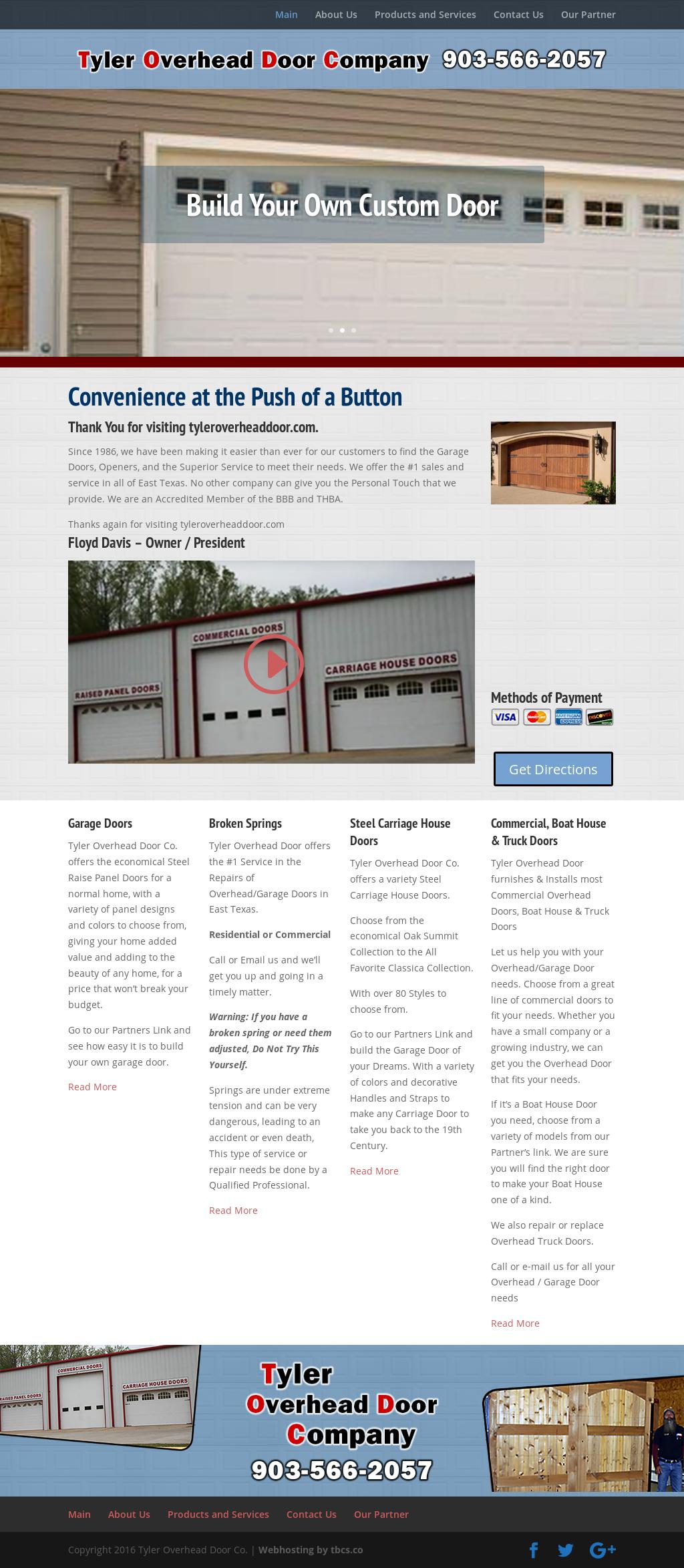 Tyler Overhead Door Company Website History