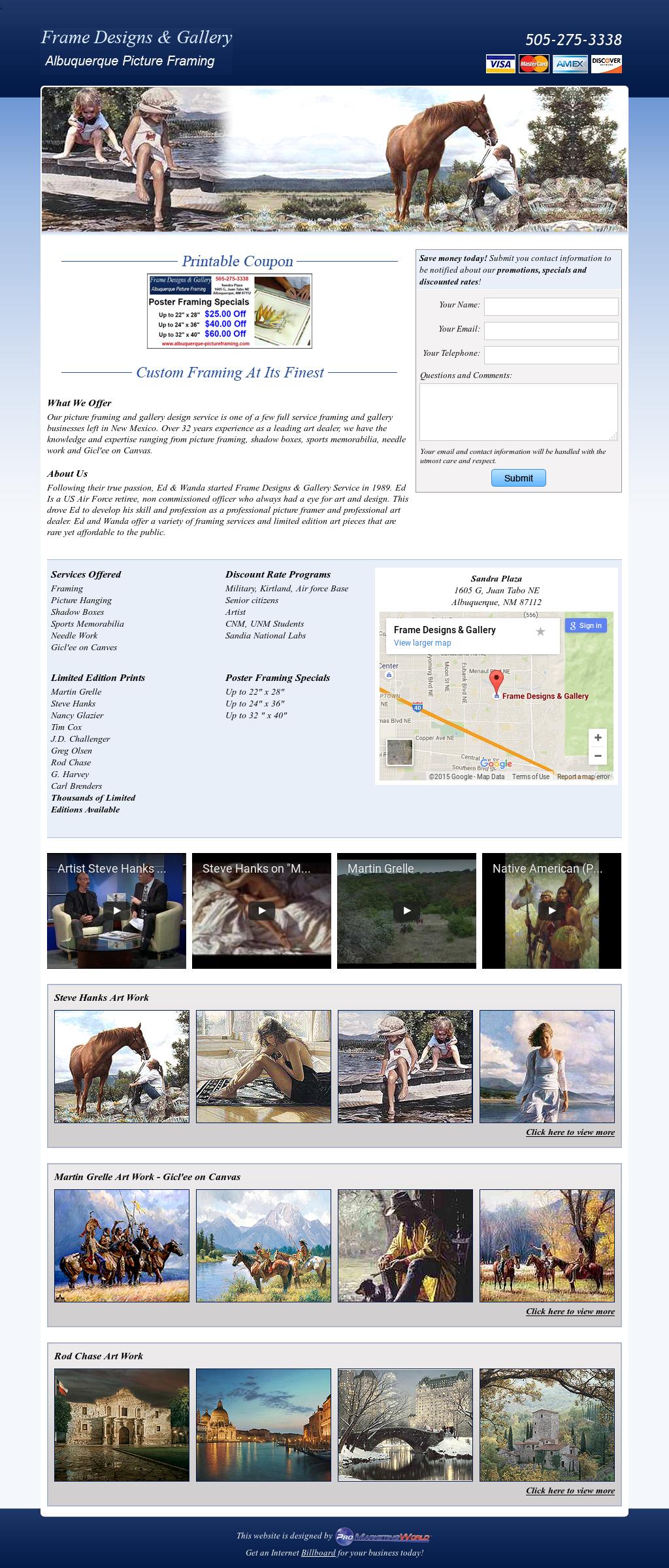 Albuquerque Frame Design Competitors, Revenue and Employees - Owler ...