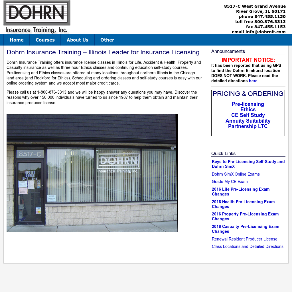 Dohrn Insurance Training Competitors, Revenue and Employees