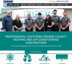 Kemnitz Air Conditioning Heating Website History