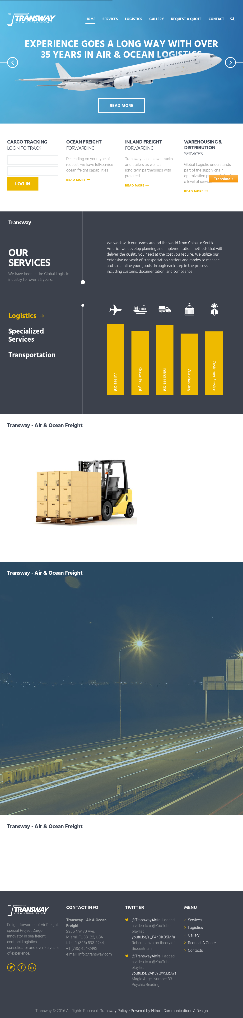 Transway Air & Ocean Freight Competitors, Revenue and Employees