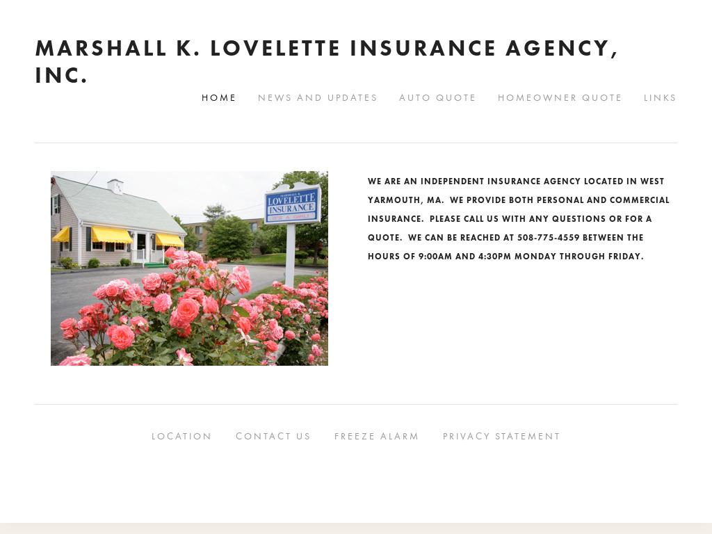 Marshall K  Lovelette Insurance Agency Competitors, Revenue