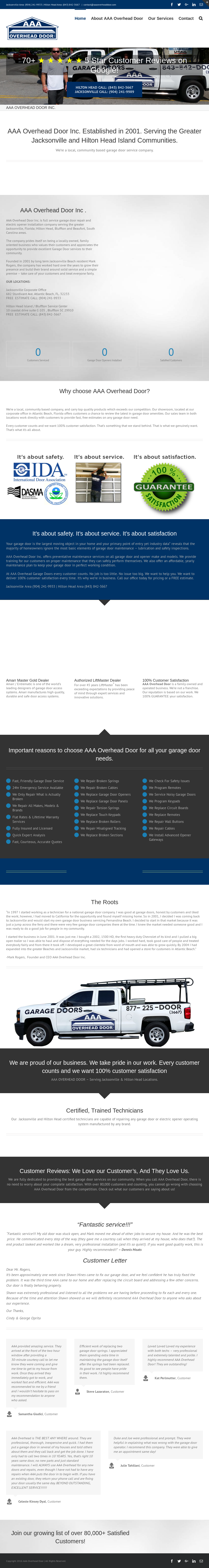 Aaa Atlantic Overhead Door Company Website History