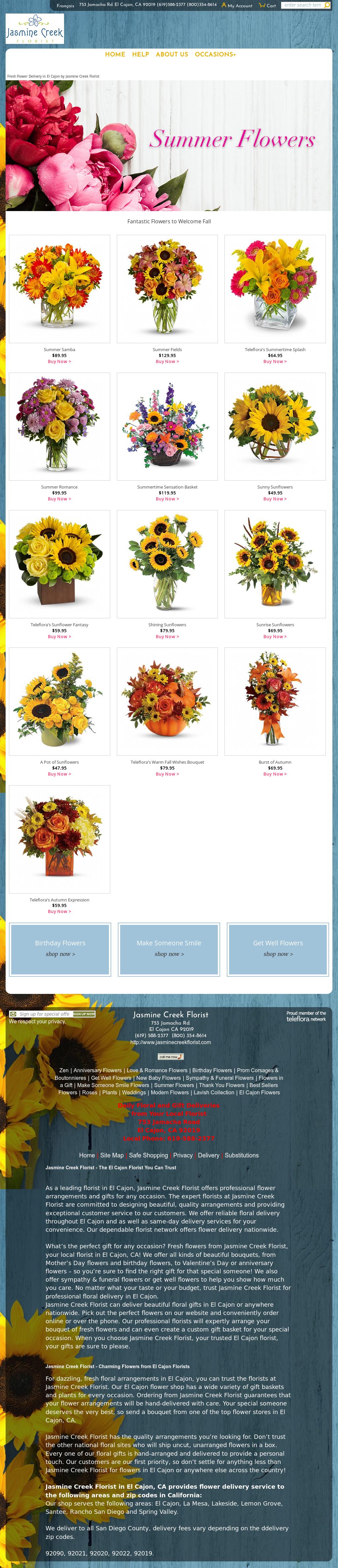 Jasmine Creek Florist Competitors Revenue And Employees Owler