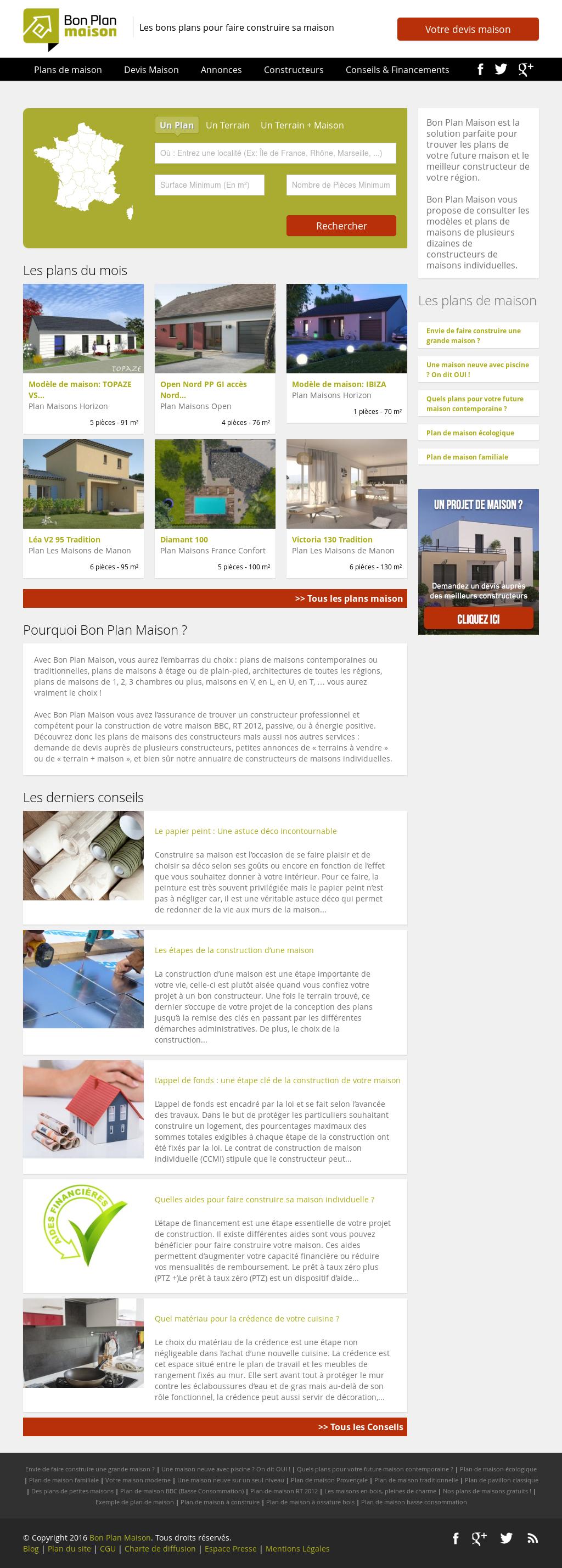 plan maison web