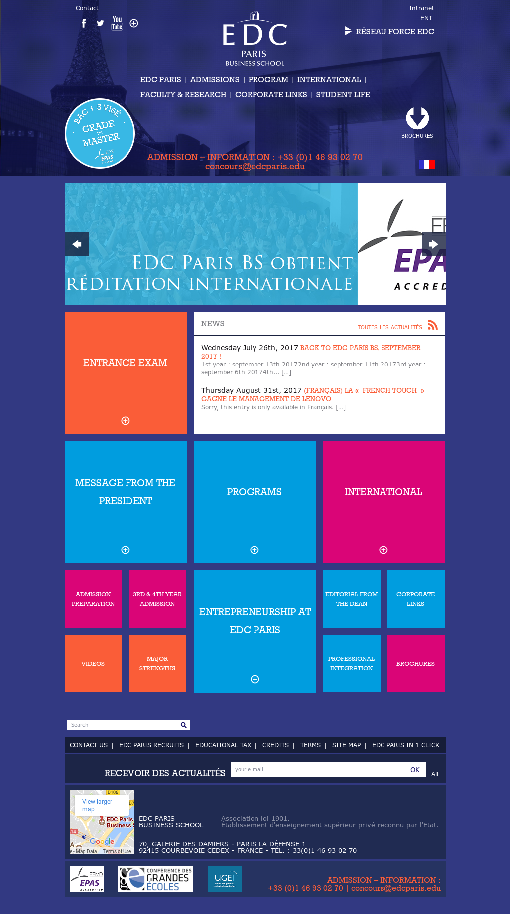 Edc Paris Business School Competitors Revenue And Employees