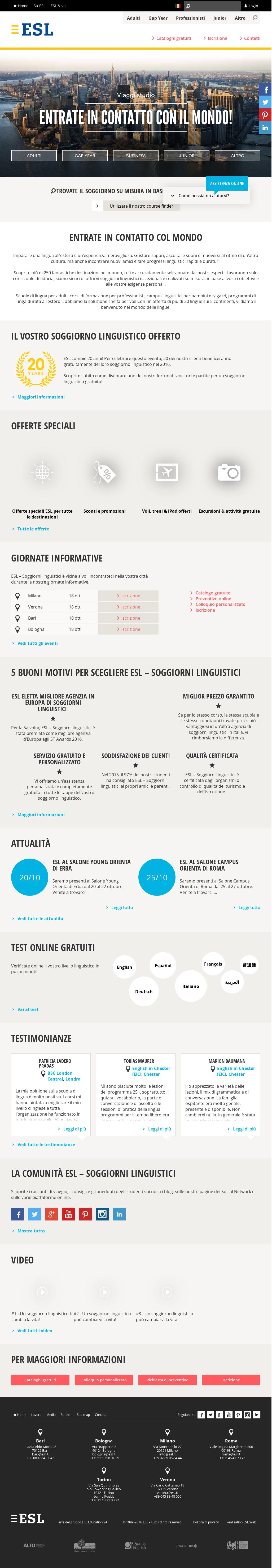 Emejing Esl Soggiorni Linguistici Ideas - Home Interior Ideas ...