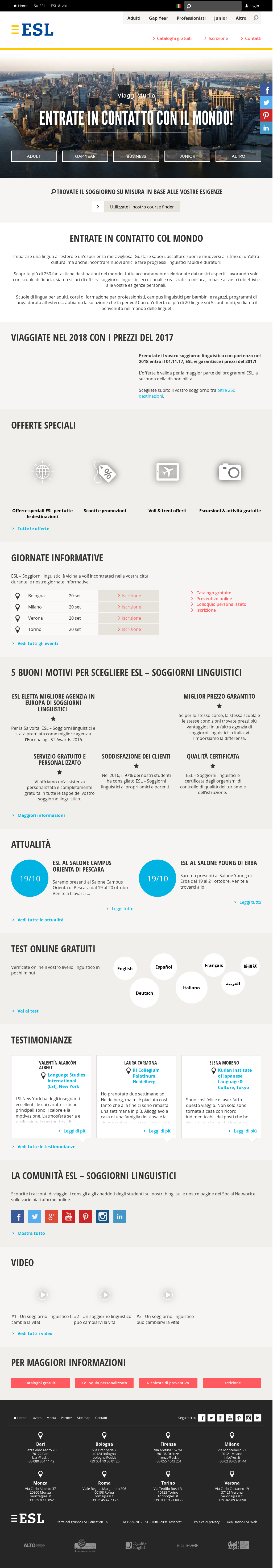 Esl - Soggiorni Linguistici Competitors, Revenue and Employees ...