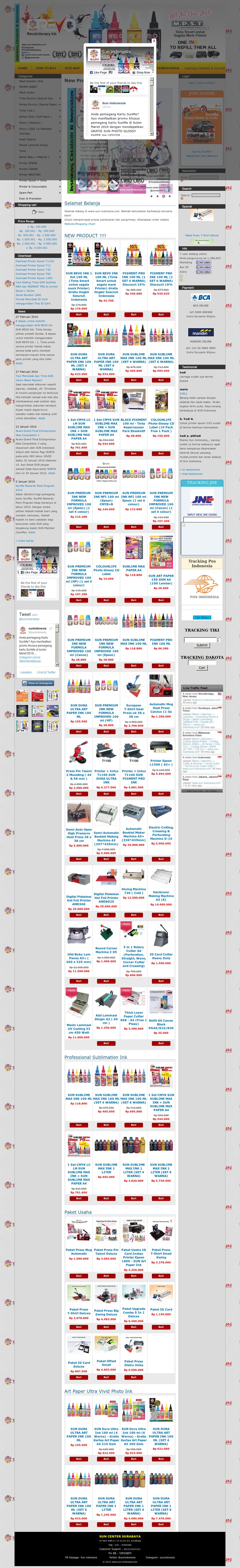 Sun Indonesia Competitors Revenue And Employees Owler Company Profile Tinta Super Black Pigment 100ml