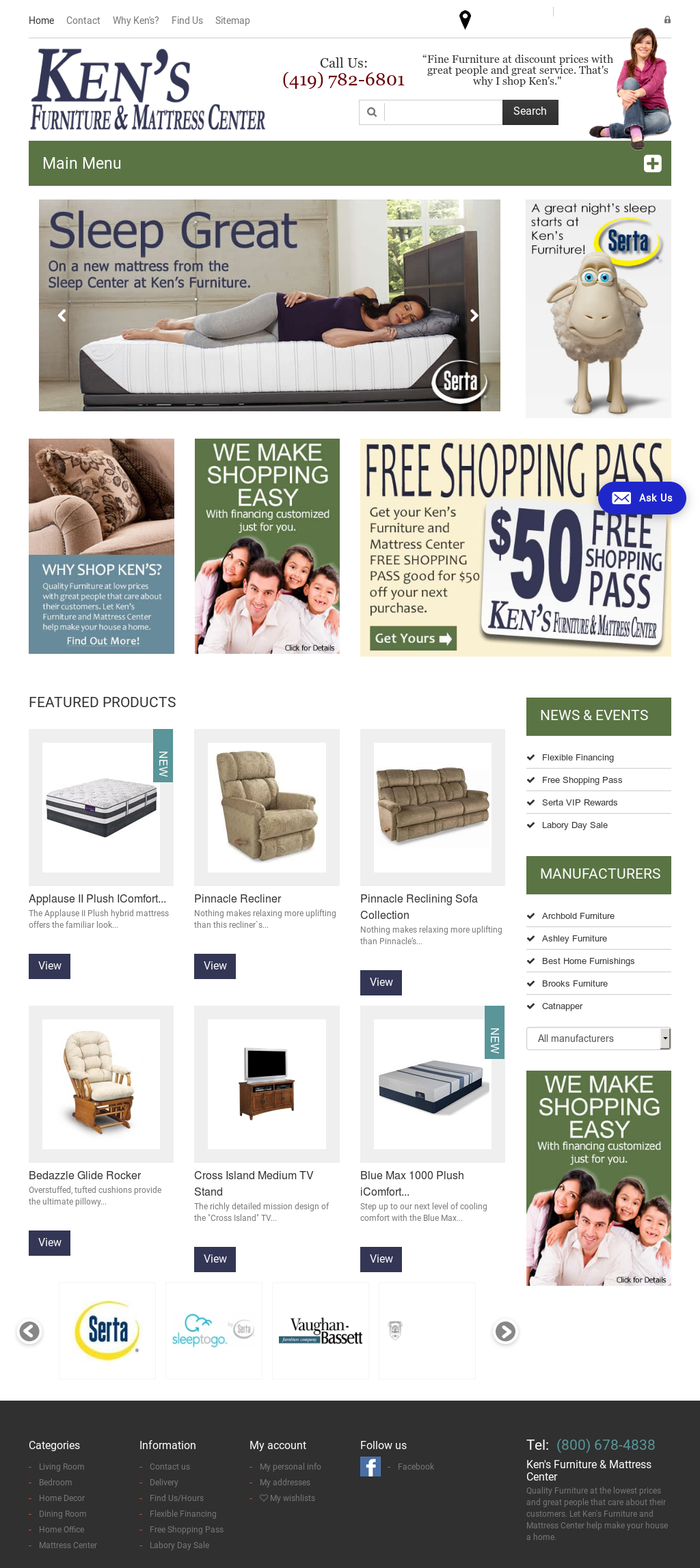 Kens Furniture Website History